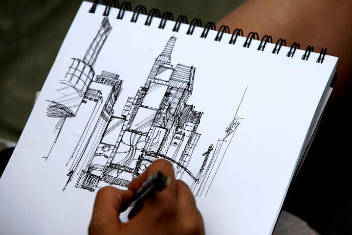 NY sketch in progress