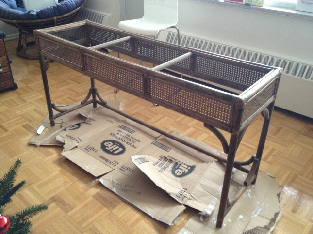 Rattan Table for painting