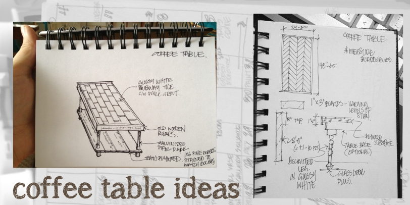 Sketchbook Tour - Coffee Table Ideas