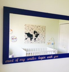Nursery Mirror Tutorial: taking a mirror from trash to treasure