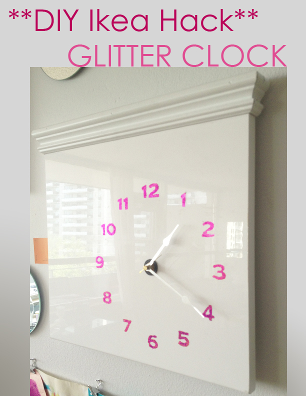 DIY Ikea Hack - Glitter Clock Tutorial by sketchystyles.com