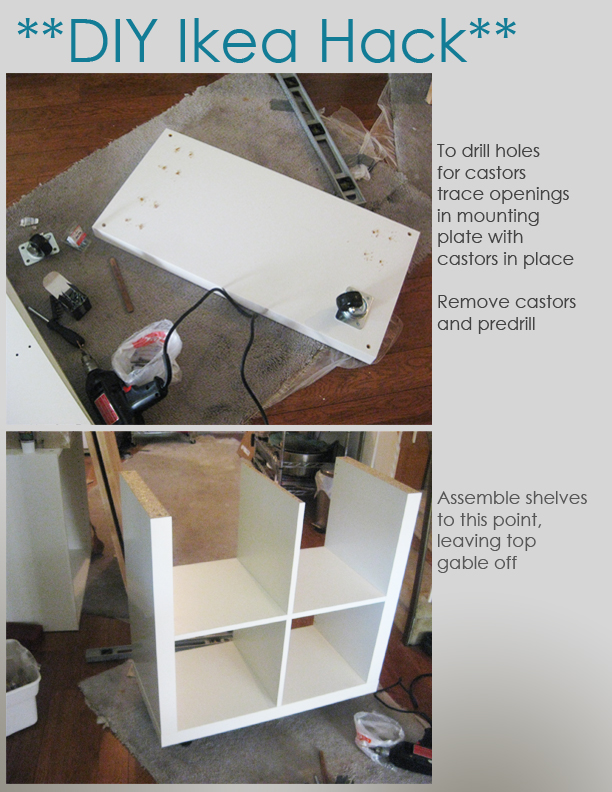 DIY Ikea Hack - Kitchen Island Tutorial - Construction 1
