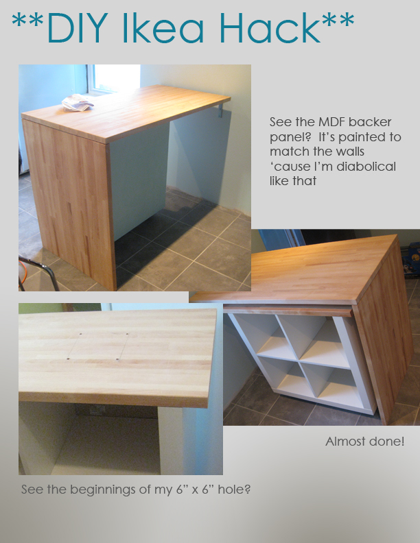 DIY Ikea Hack   Kitchen Island Tutorial   Construction 4