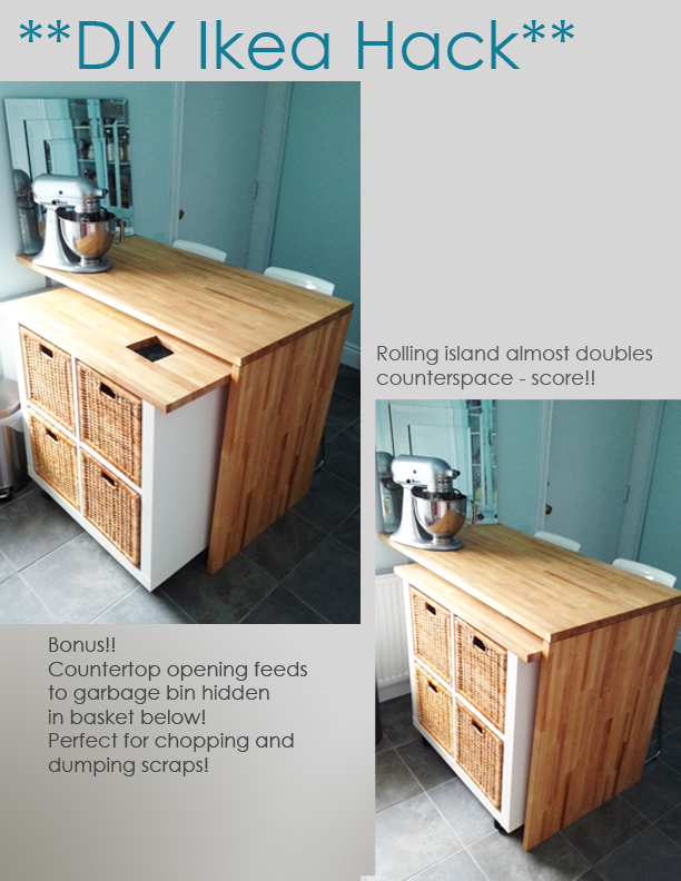 Kitchen Island On Wheels Ikea: Ikea Hack – DIY Kitchen Island Tutorial