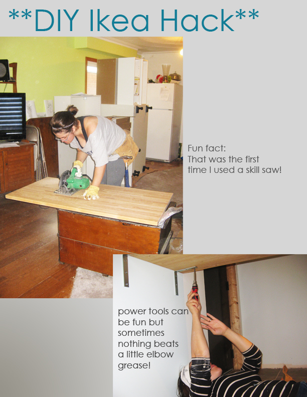 Ikea Hack - DIY Kitchen Island Tutorial | sketchy styles
