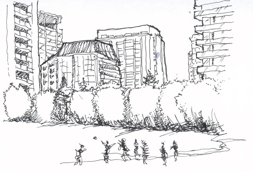 Rosehill Resovoir - Toronto - Urban Sketch